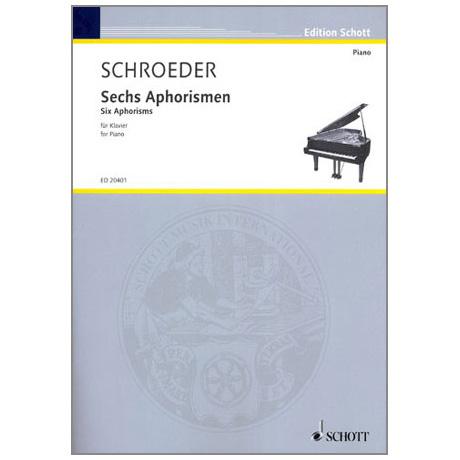 Schröder, H.: Sechs Aphorismen