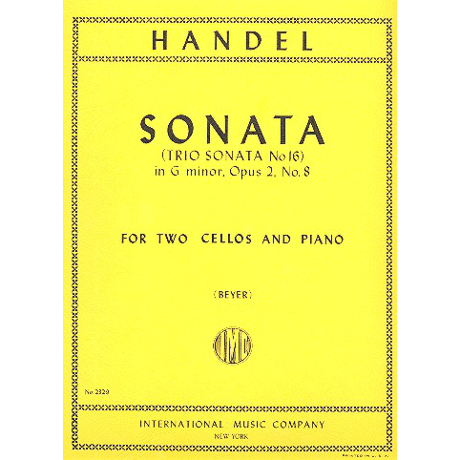 Händel, G.F.: Triosonate Nr.16 Op.2/8 g-Moll