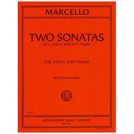 Marcello, B.: 2 Violasonaten in G-Dur & C-Dur