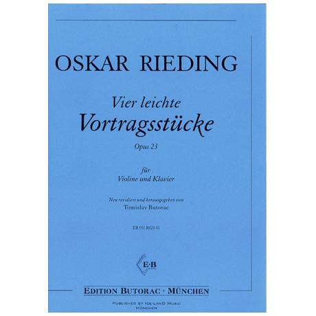 Rieding, O.: 4 leichte Vortragsstücke Op.23