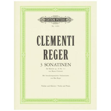 Clementi, A.: 3 Sonatinen für Klavier op.36 Nr. 1-3