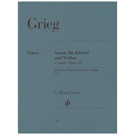 Grieg, E.: Sonate Nr. 3 c-Moll, Op. 45