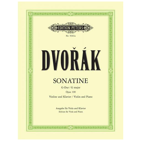 Dvořák, A.: Vioalasonatine Op. 100 G-Dur