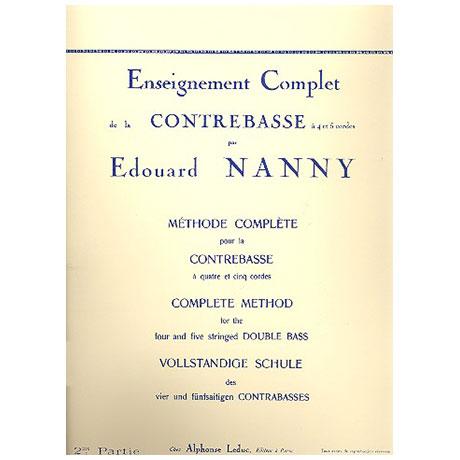 Nanny, E.: Vollständige Schule des 4- und 5-saitigen Kontrabasses Band 2