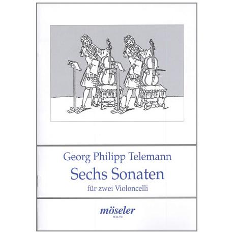 Telemann, G.P.: 6 Duette / Sonaten Op.2 TWV 40:101-106