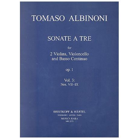 Albinoni, T.: Sonate a tre Op.1 Band 3 (Nr.7-9)