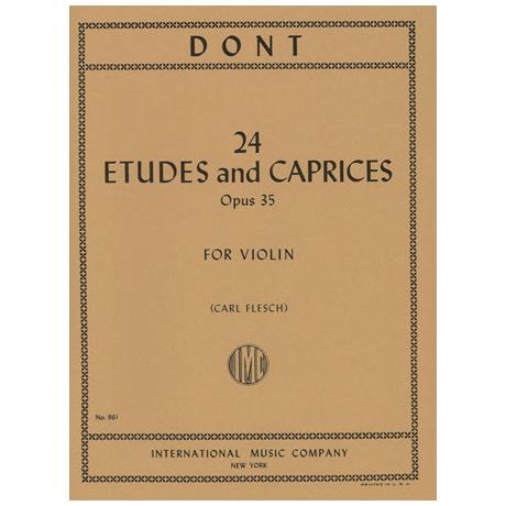 Dont: 24 Etüden und Capricen op. 35 (Flesch)