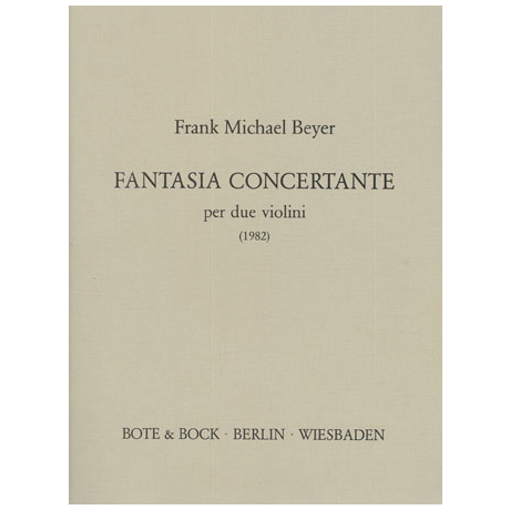 Beyer, F.M.: Fantasia concertante