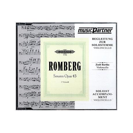 Romberg, B.: 3 Violoncellosonaten Op. 43 für 2 Violoncelli ( nur CD)