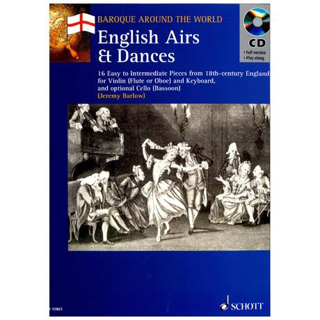 Englische Airs und Tänze (+ CD) – 16 Stücke für Violine