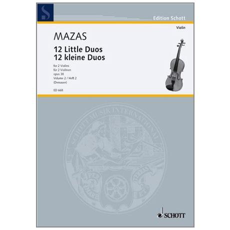 Mazas, J.F.: 12 kleine Duos Op.38 Band 2