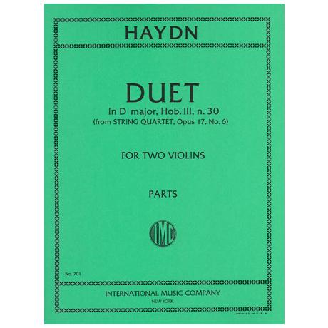 Haydn, J.: Duett in D-Dur Hob. III n.