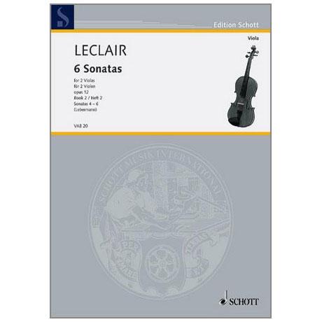 Leclair, J.M.: 6 Sonaten Band 2 (Nr.4-6)