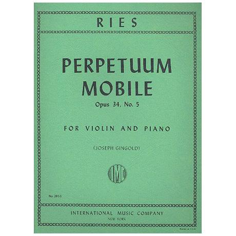 Ries, F.: Perpetuum Mobile Op. 34/5