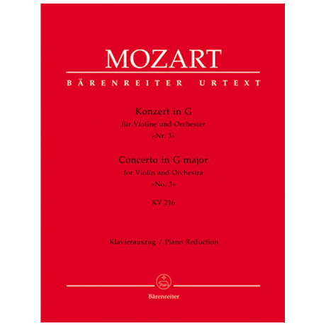 Mozart, W.A.: Konzert in G-Dur (Nr.3) KV 216
