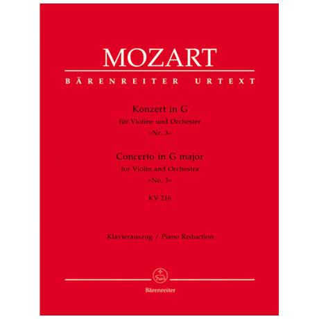 Mozart, W. A.: Violnkonzert Nr. 3 KV 216 G-Dur