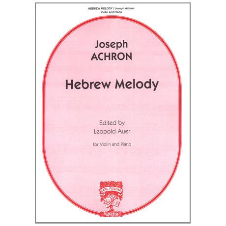 Achron, J.: Hebrew Melody