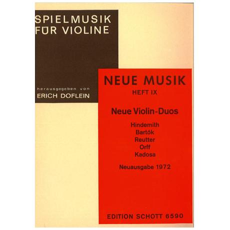 Spielmusik für Violinen Neue Musik: Neue Violin-Duos