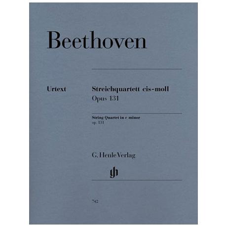 Beethoven, L.v.: Streichquartett cis-Moll Op. 131 Urtext