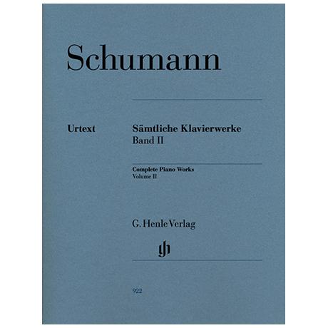 Schumann, R.: Sämtliche Klavierwerke Band 2