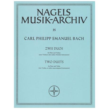 Bach, C, P.E.: 2 Duos aus »Musikalisches Vielerley« Wq 140, 142