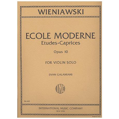 Wieniawski, H.: École moderne Op.10
