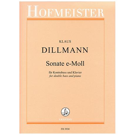 Dillmann, K.: Kontrabasssonate e-Moll