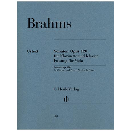 Brahms, J.: Sonaten Op. 120