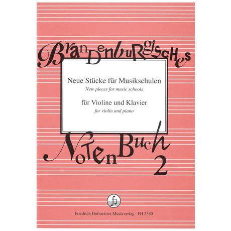 Brandenburgisches Notenbuch 2 - Neue Stücke für Musikschulen