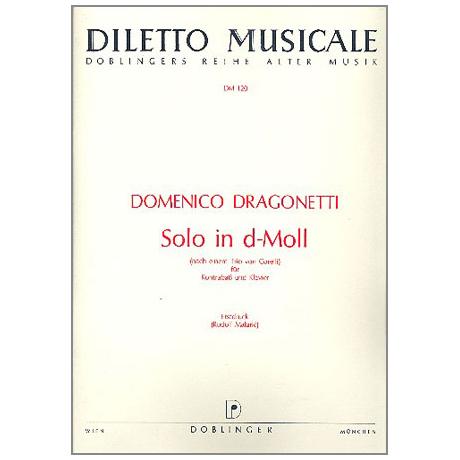 Dragonetti, D.: Solo d-Moll