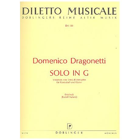 Dragonetti, D.: Solo G-Dur