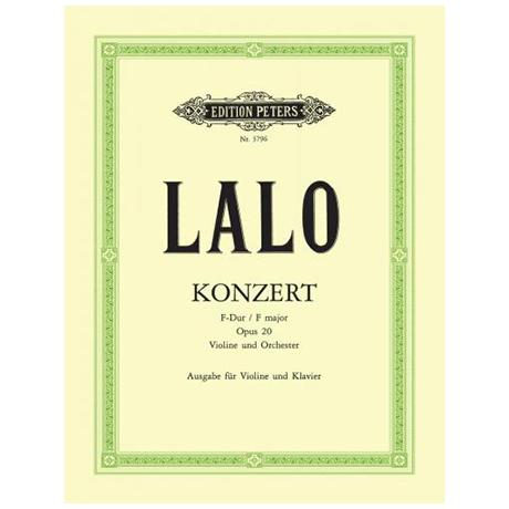 Lalo, E.: Konzert Op. 20 F-Dur