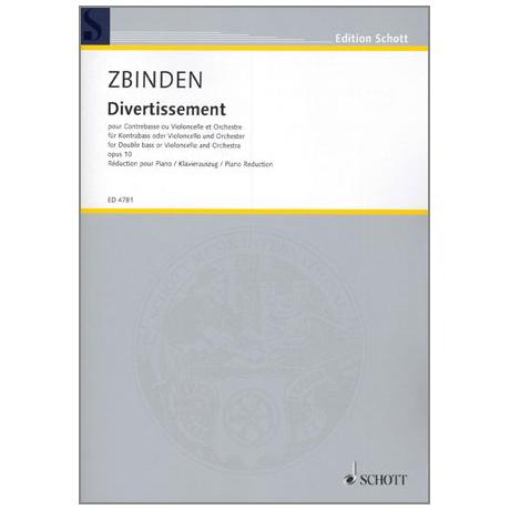 Zbinden, J. F.: Divertissement Op. 10