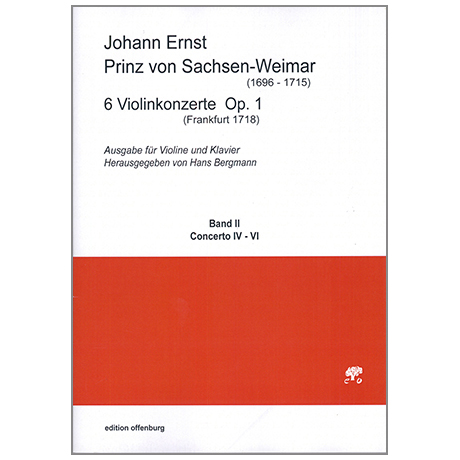Prinz von Sachsen-Weimar, J.E.: 6 Violinkonzerte Op.1 Band 2