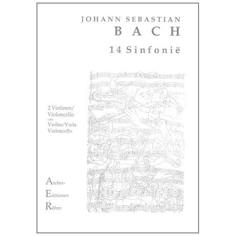 Bach, J.S.: Streichtrio: 14 dreistimmige Inventionen für Klavier