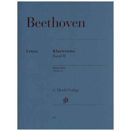 Beethoven, L.v.: Klaviertrios Band 2: Op. 70/1-2, Op. 97, Op. 121a Urtext
