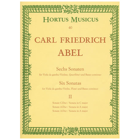 Abel, K.F.: Sechs Sonaten Band 2