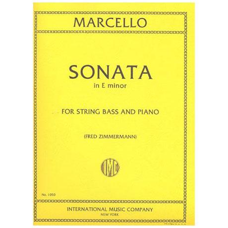 Marcello, B.: Kontrabasssonate e-Moll