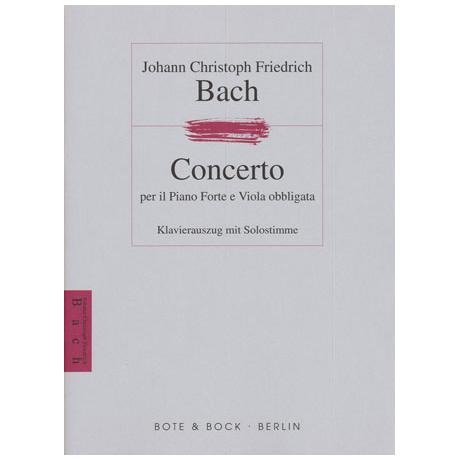 Bach, J. C. F.: Violakonzert