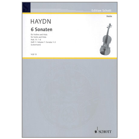 Haydn, J.: 6 Sonaten Hob.VI:1-3
