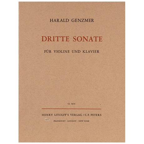 Genzmer, H.: Violinsonate Nr. 3