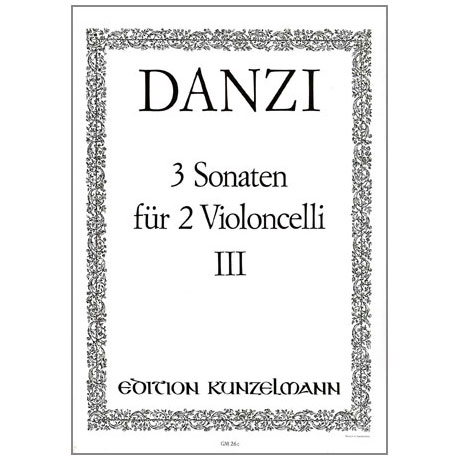 Danzi, F.: 3 Violoncellosonaten Band 3 Nr. 3 d-Moll