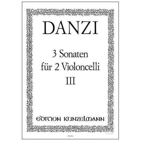 Danzi, F.: 3 Sonaten Band 3 Nr.3 d-moll