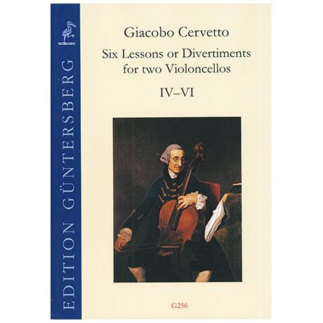 Cervetto, G.: Six Lessons or Divertiments Op.4 Vol.1 IV-VI