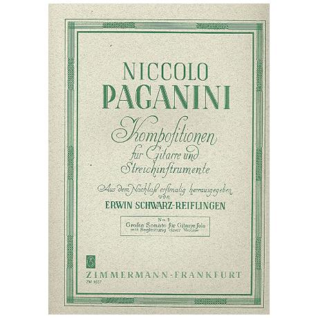 Paganini, N.: Große Sonate A-Dur