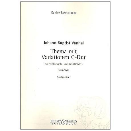 Vanhal, J.B.: Thema mit Variationen C-Dur