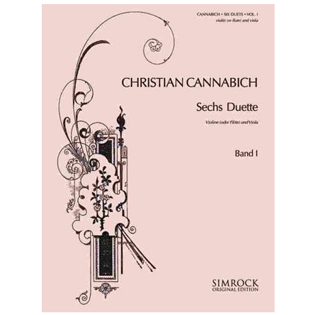 Cannabich, C.: 6 Duette Band 1 (Nr. 1-3)