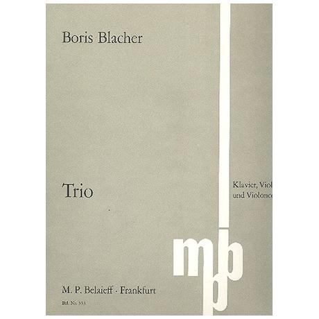 Blacher, B.: Klaviertrio