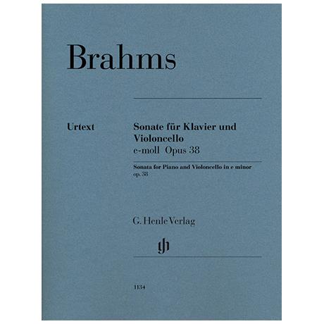 Brahms, J.: Sonate Op. 38 e-Moll