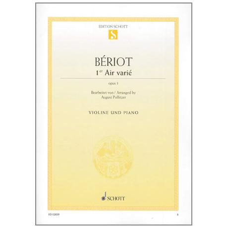 Bériot, Ch.d.: Air varié Op.1 d-Moll